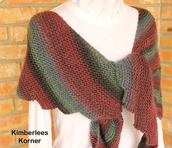 Free Knitting Pattern For Scalloped Edge : Shawl, Garter and Wraps on Pinterest