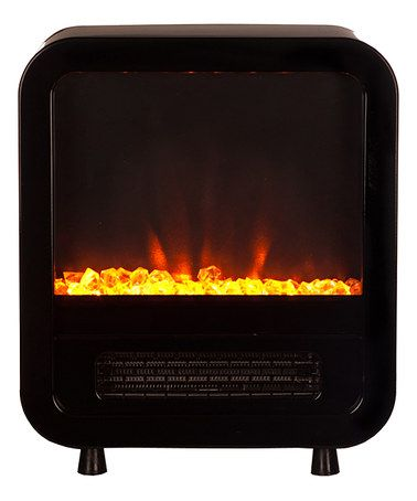 Another great find on #zulily! Black Skyline Electric Fireplace Stove #zulilyfinds