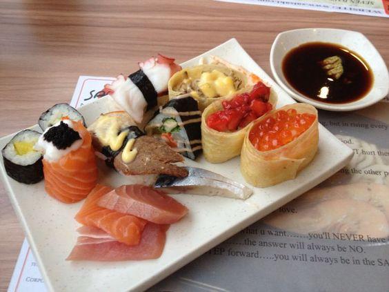 A sushi buffet