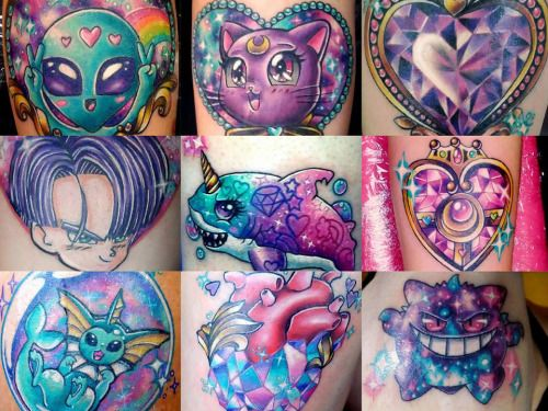 Beautiful colors and in love on pinterest for Pastel goth tattoos