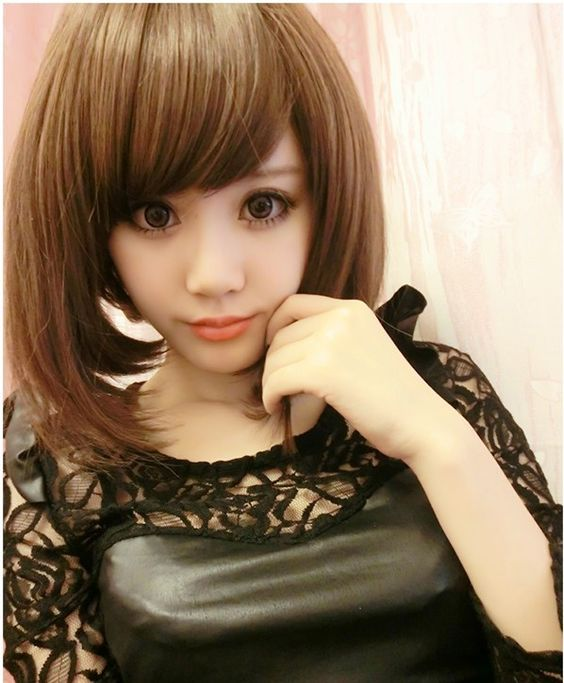$9.88 (Buy here: http://appdeal.ru/91ky ) Heat Resistant Harajuku Cosplay Wig Natural Black Light Brown Synthetic Hair Bob Wigs Female Women Sexy Pelucas Party Peruca for just $9.88