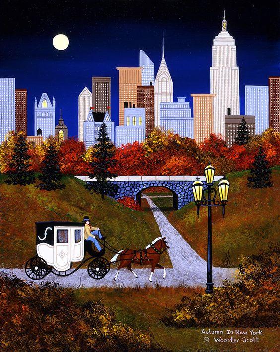 Autumn In New York Painting  - Autumn In New York Fine Art Print