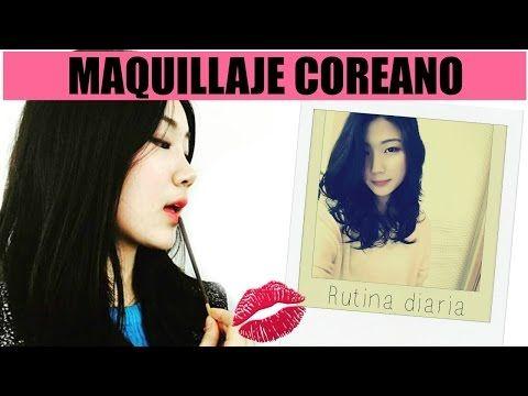 ¿Como se maquilla una coreana? Estándares de belleza en Corea - Tutorial ft Moon Young - YouTube