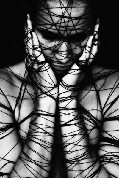 You are in tangles. The web that you've woven has become too tight. You're trapped. Bounded together, yet trying to hold on strong. You are very much compacted. Stuck. Unable to move and change position. Lie after lie. It's tense. This spider has spun it's last web and you are now constricted. The poison seeps in.: