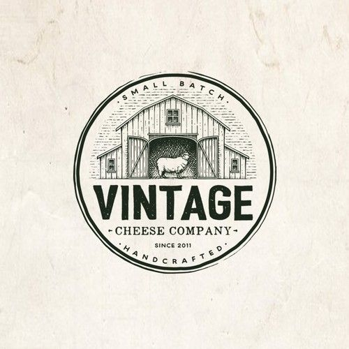 Vintage Logo For A Cheese Manufacturing Company With A Vintage Feel And Vibe In 2020 Vintage Logo Design Vintage Logo Maker Vintage Logo