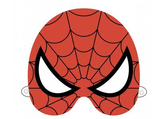 Masque spiderman car interior design - Masque de carnaval a imprimer ...