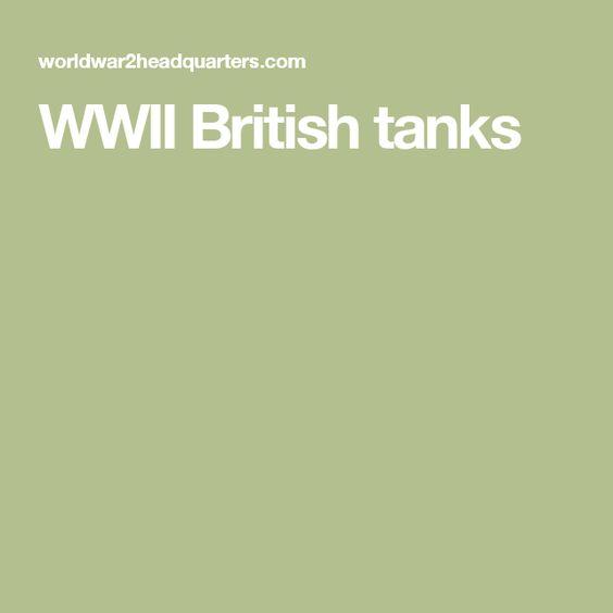 WWII British tanks