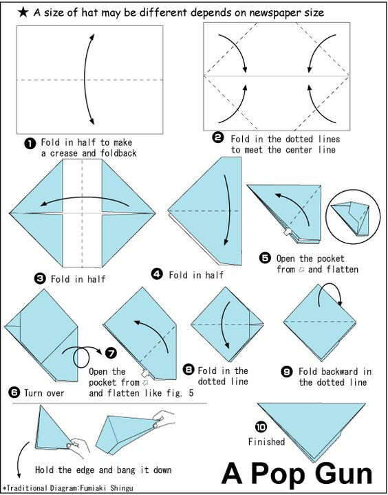 origami pop gun origami pinterest origami pistolen und zeitung. Black Bedroom Furniture Sets. Home Design Ideas