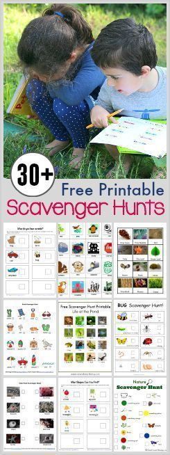 Over 30 Free Printable Scavenger Hunts for Kids