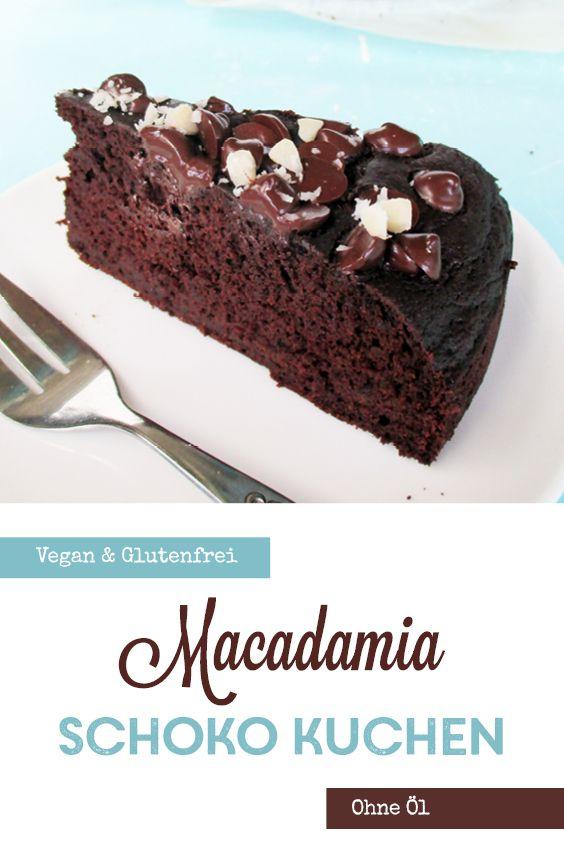 Macadamia Schokoladen Kuchen Vegan Glutenfrei In 2020 Vegane Desserts Leckerschmecker Schokoladen Kuchen