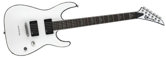 Click Image Above To Purchase: Charvel Desolation Dx-1 St Soloist Electric Guitar Snow White