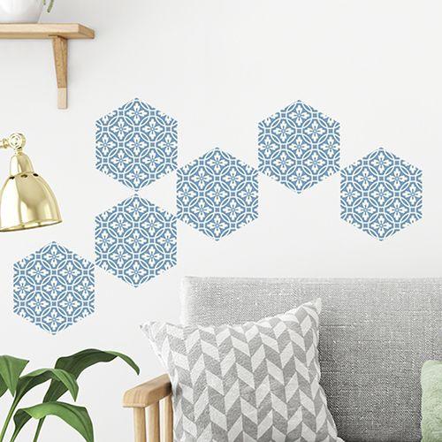 Adhesif Carrelage Hexagone Avec Motif Carreaux De Ciment Belle