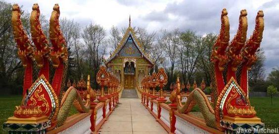 Buddhist temple in Columbus, Watt Lao Buddhamamakrama.  3624 Bexvie Ave, Columbus, OH 43227. More photos @ https://www.instagram.com/explore/locations/265282205/