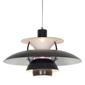 Poul Henningsen Style 'PH 5' Ceiling Pendant Light Shade in Grey