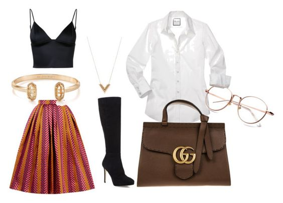 outfit by ausra-putvinskiene on Polyvore featuring T By Alexander Wang, House of Holland, Jimmy Choo, Gucci, Louis Vuitton and Kendra Scott