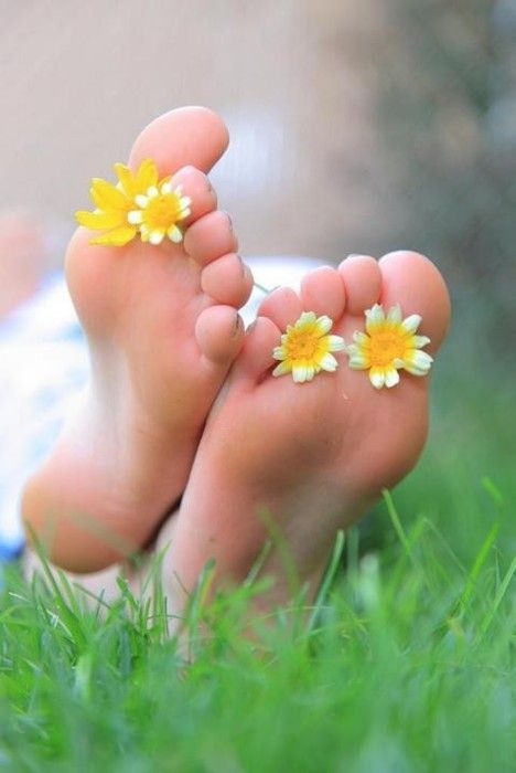 Going barefoot. There is a peace that comes from *truly* feeling one's connection to Mother Earth.