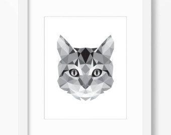 geometrische tiere katze google suche diy pinterest broschen beliebt und origami. Black Bedroom Furniture Sets. Home Design Ideas