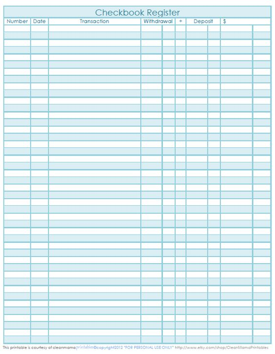 Best 25+ Check register ideas on Pinterest Printable check - Printable Bank Ledger
