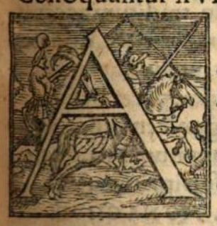 Lettrine cheval et guerrier 1561/ Initial letter horse and knight 1561