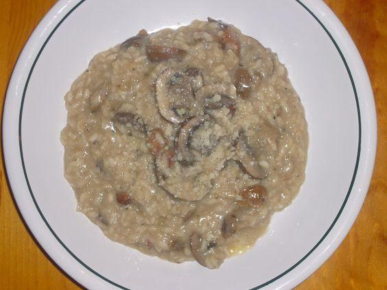 My ultimate comfort food: Mushroom & Pancetta Risotto