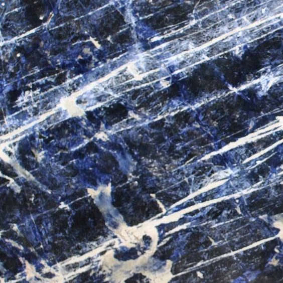Sodalite Blue Select Is A Highly Sought After Exotic And Exclusive Granite.  Its Striking Cobalt Blue Colors Accented With Waves And Specks Of Whiteu2026