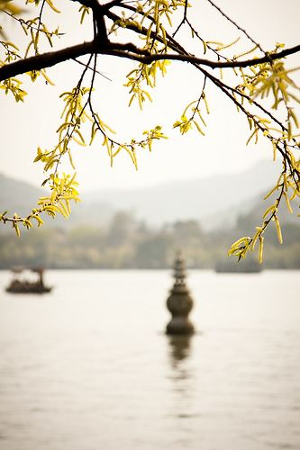three pools reflecting the moon pagoda | West Lake, Hangzhou, China