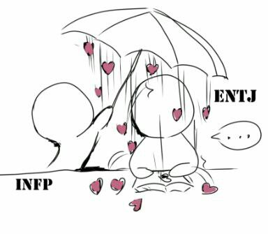 INFP and ENTJ interaction