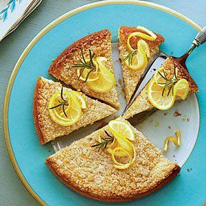 Lemon Rosemary Coffee Cake. Perfect use of my meyer lemon