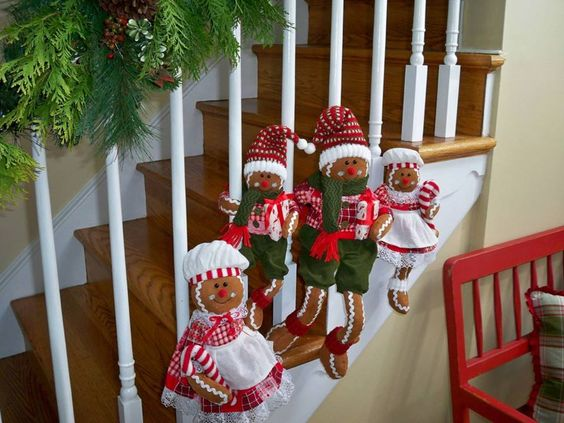 Adorable Set of four Gingerbread Fabric Family.  H192842  http://qvc.co/ShopValerie