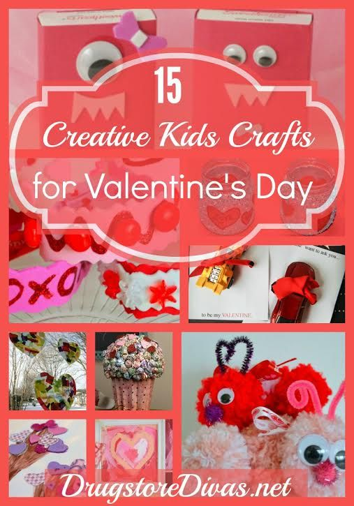 Celebrate Valentine's Day with your kids with this list of 15 Creative Kids Crafts for Valentine's Day.
