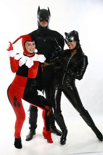 Arlequina/Batman/Mulher Gato