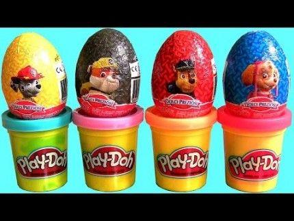 Play Doh Surprise Eggs Paw Patrol Huevos Ovetti Patrulla Canina Squadra dei cuccioli Dolci Preziosi