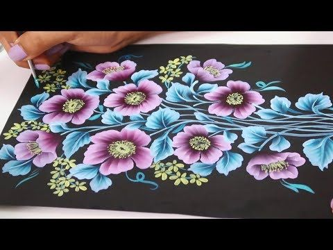 Beautiful Floral Bouquet Painting Using One Stroke Easy Acrylic Painting Ideas Youtube Simple Acrylic Paintings Easy Flower Painting Abstract Floral Art