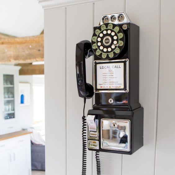 Téléphone vintage : Diner Phone 50' ☎ Wild & Wolf
