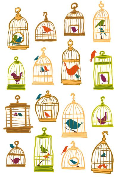 Bird Cages Art Print | Sheena Hisiro