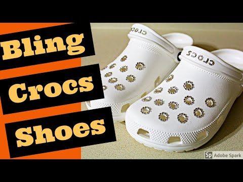 White Crocs Sandals Bling Wedding Crocs Swarovski Youtube Crocs Bling Wedding Shoes Wedding Crocs