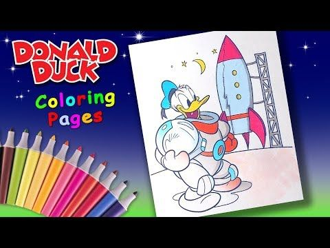 Disney Donaldduck Coloring Forkids Donald Flise In To The Spase Coloring Page Youtube My Little Pony Characters Favorite Cartoon Character Coloring Pages