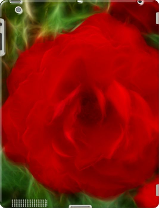 sold at @Kacy Brandon : #Red #Rose #iPad 3 #Case - thanks to the customer #flower #abstract #fractal