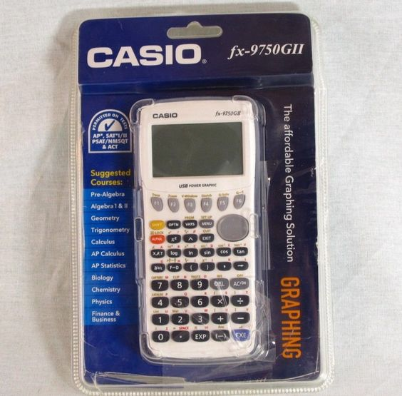 Casio fx 9750gii graphing graphic calculator new with cover amp manual