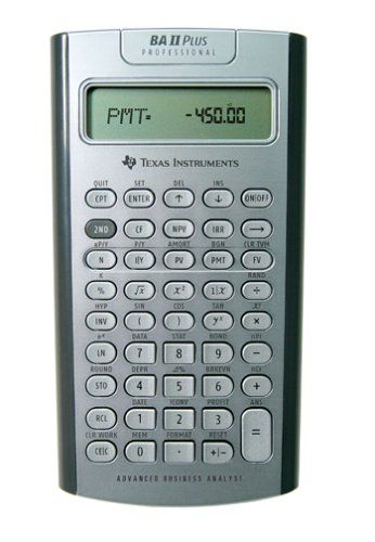 A solid financial calculator