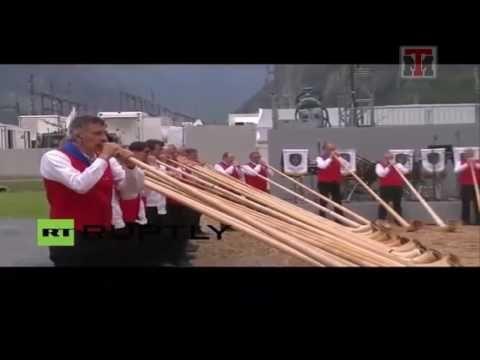 Ceremonia Satánica en Inaguracion del Tunel Más Grande del Mundo
