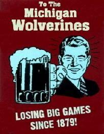 FRAMED HATE Michigan Bar Room Sign Ohio State Buckeyes