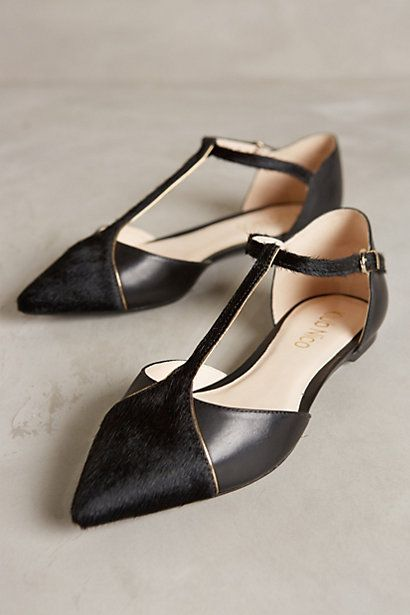 adorable black flats from anthropologie #anthrofaves: