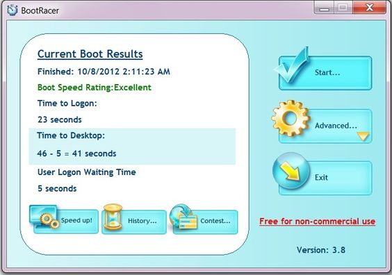 FREEWARE ~~  [Windows] Measure your Windows boot speed with BootRacer