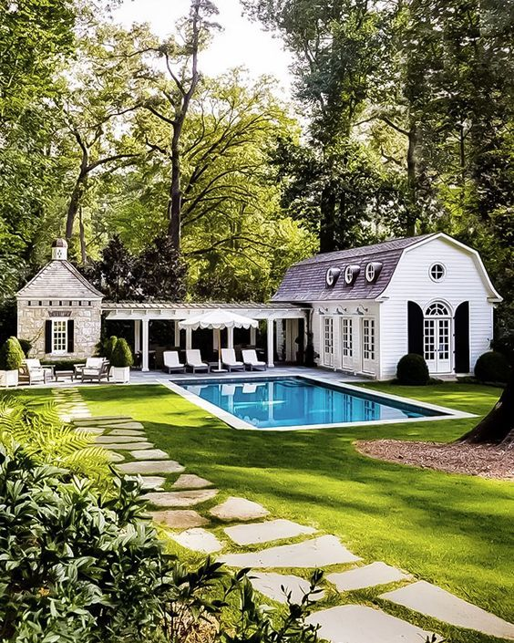Amazing Backyard Patio Ideas With Beautiful Pool House Designs Exterior Dream House Exterior Pool House