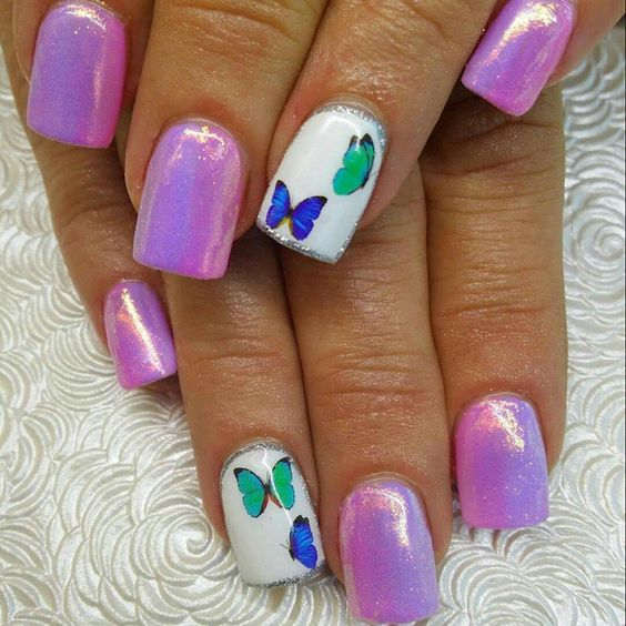 #sculptednails #sculpted#nailartshells # butterfly nails#mermaidnails