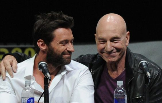 Hugh Jackman (left) and Patrick Stewart (right)