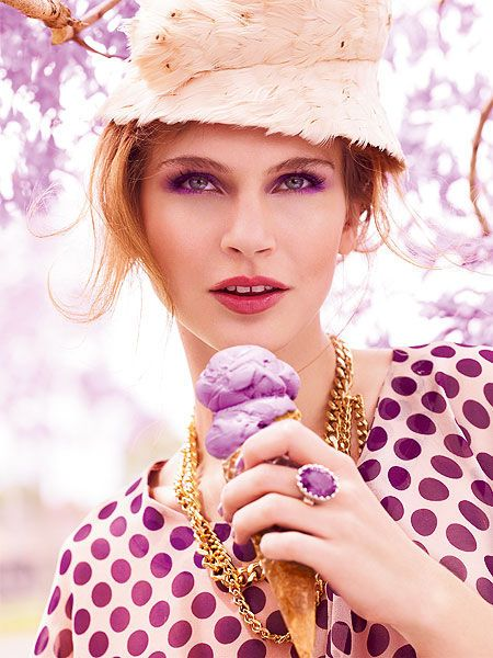 Purple ice-cream :)