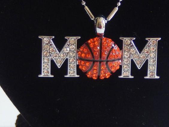 Basketball Mom Pendant Necklace by BlingItHomeByLola on Etsy