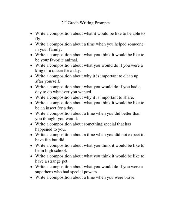 Image result for writing prompts 2nd grade